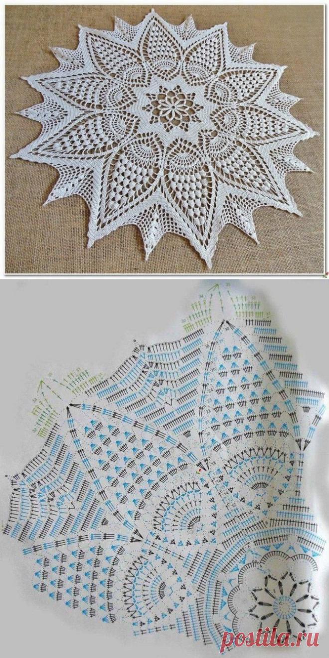 Невероятно красивая салфетка — DIYIdeas
