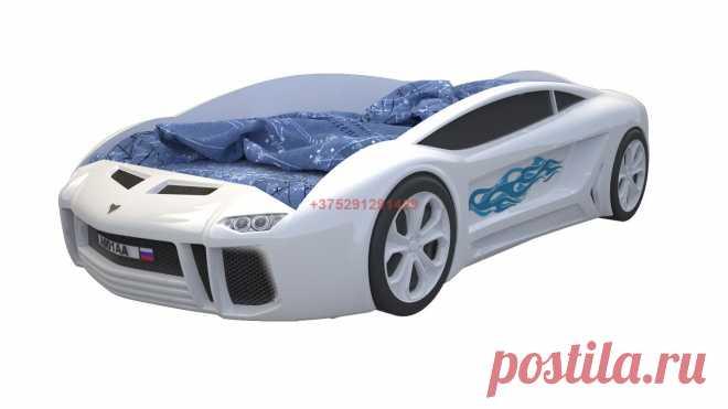 Кровать-машинка Ламба Next (белая): купить в Минске недорого, низкие цены, скидки, рассрочка