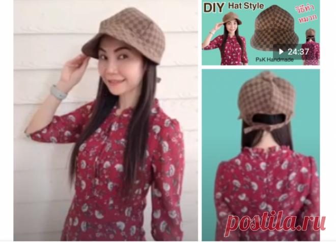 Выкройка необычной женской кепки на осень DIY