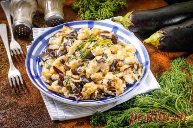 Баклажаны, запеченные с грибами