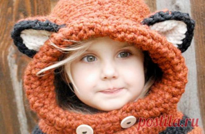 вязание шапочки для девочек спицами и крючком с описанием вязаные