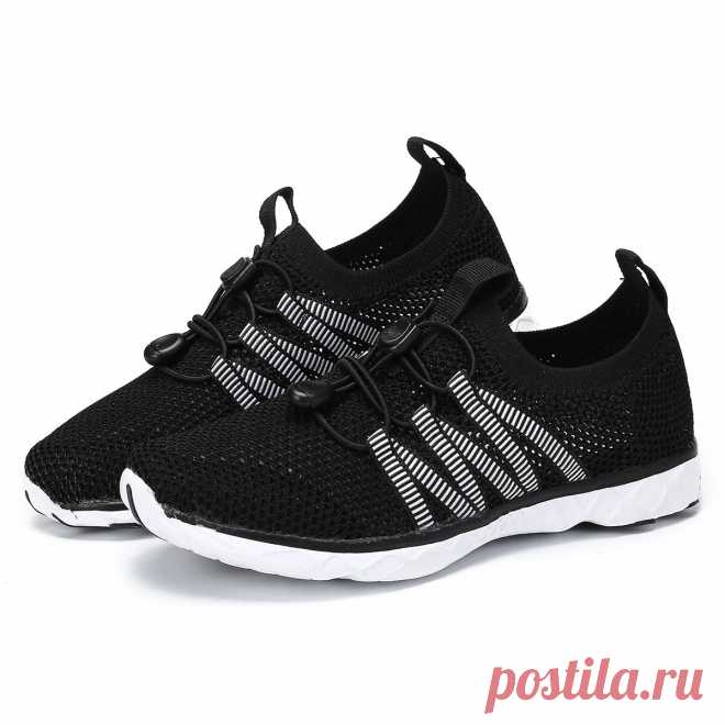 Unisex mesh running shoes lightweight anti-slip quick drying athletic sneakers outdoor camping walking beach shoes Sale - Banggood.com