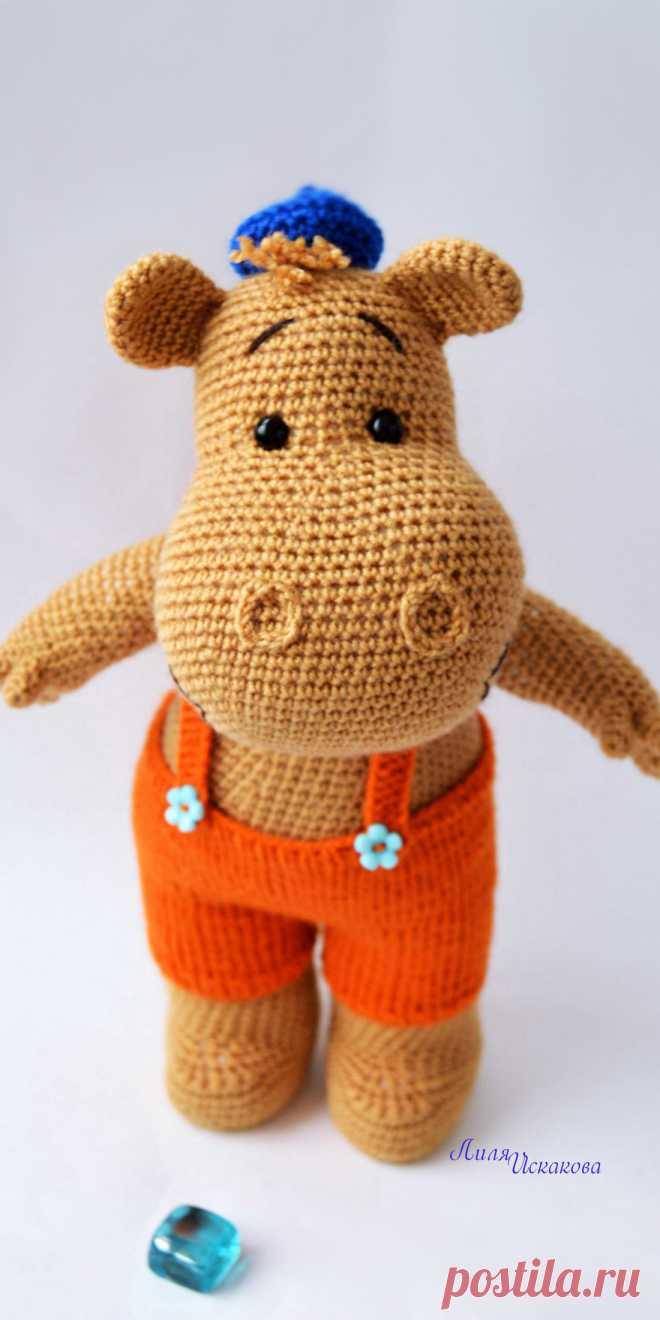 PDF Бегемотик Тима крючком. FREE crochet pattern; Аmigurumi doll patterns. Амигуруми схемы и описания на русском. Вязаные игрушки и поделки своими руками #amimore - Бегемот, бегемотик.