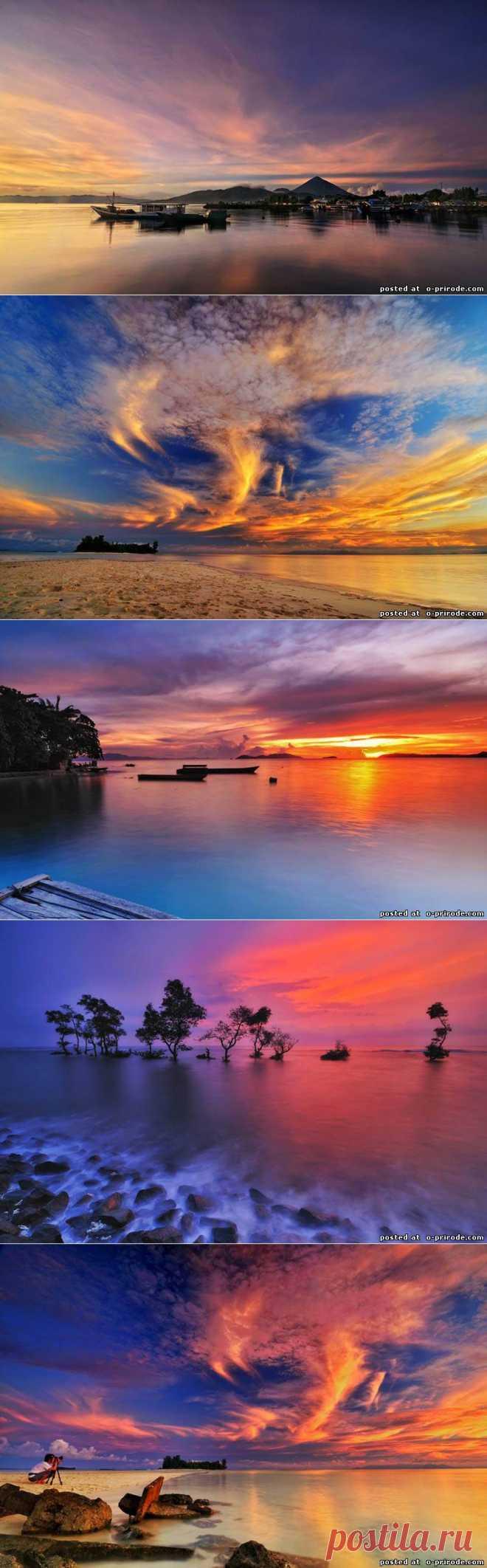 Красивые закаты от Arnov Setyanto - Фото мир природы