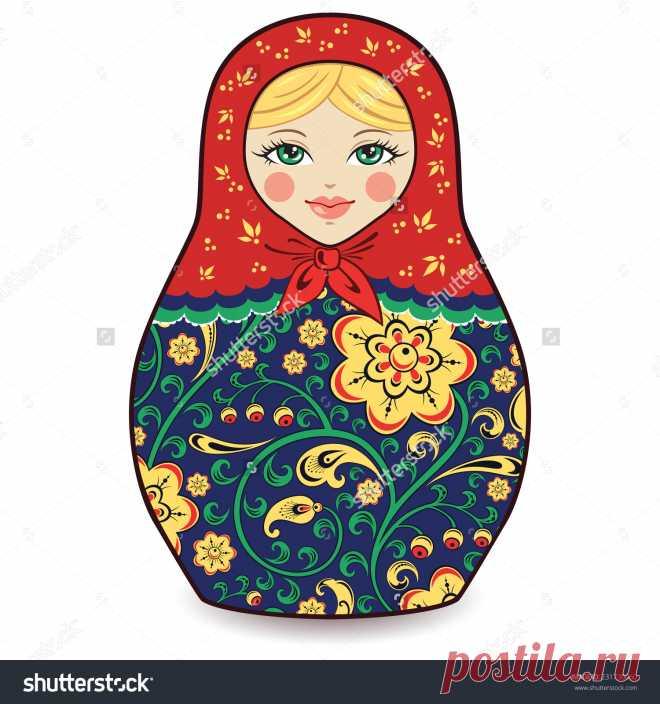 Vector Illustration Of Russian Doll Matryoshka - 231730060: Shutterstock