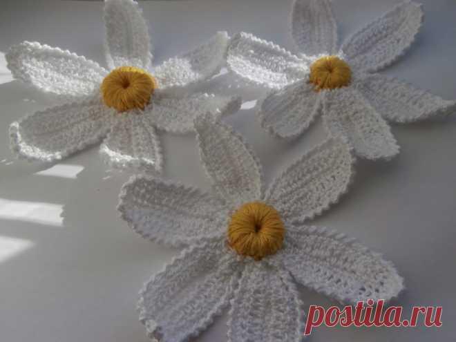 ромашки крючком схемы вязание крючком цветы схемы легкие