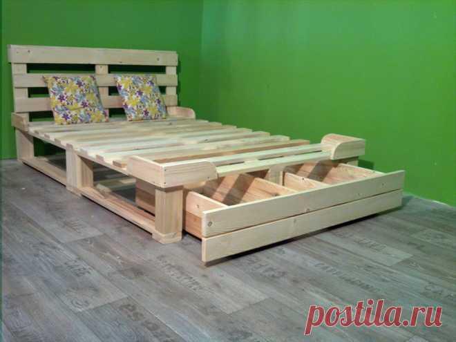 Поддон Платформа кровать с хранения | 99 поддоны