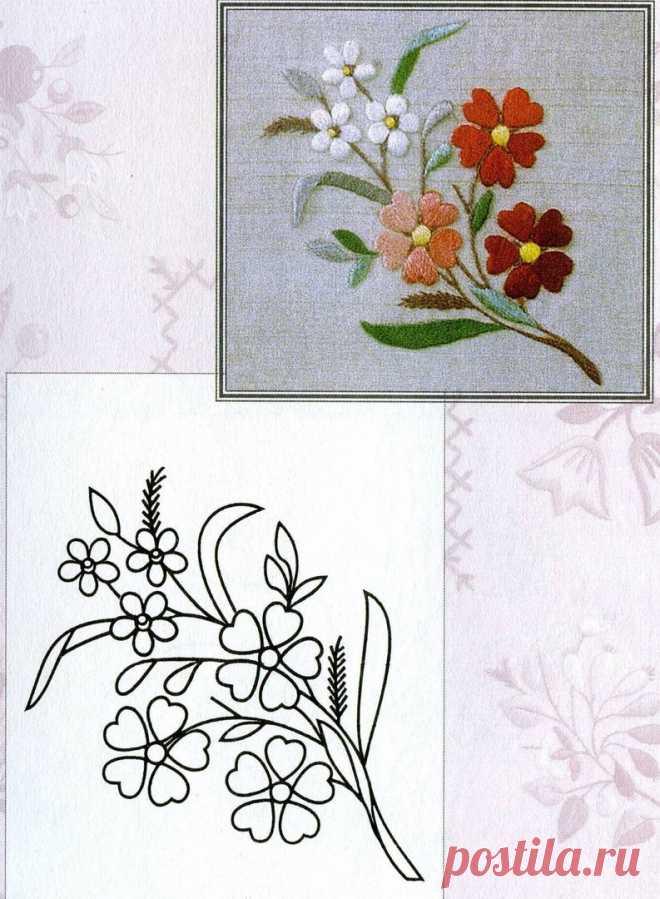 Рисунки и эскизы для вышивки