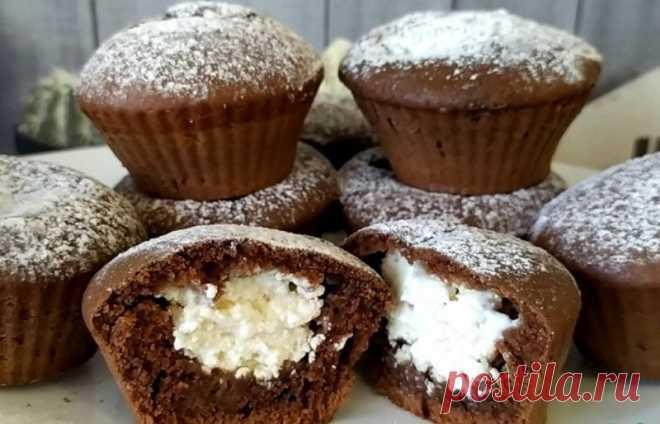 Рецепт вкусных и нежных шоколадных кексов с творогом Кексы настолько нежные, что буквально тают во рту!