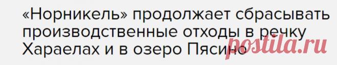«Норникель» продолжает сбрасывать производственные отходы в речку Хараелах и в озеро Пясино — Новости — Эхо Москвы, 28.06.2020