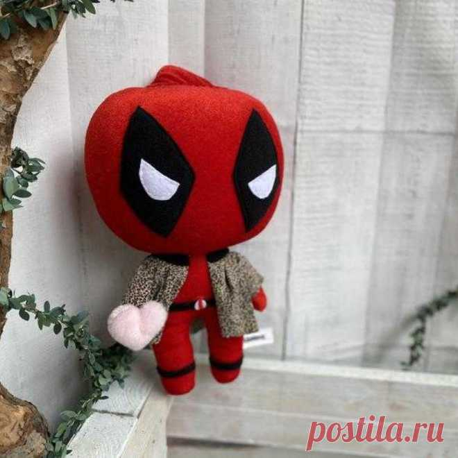 Супергерой Дэдпул мягкая игрушка кукла   ручной работы