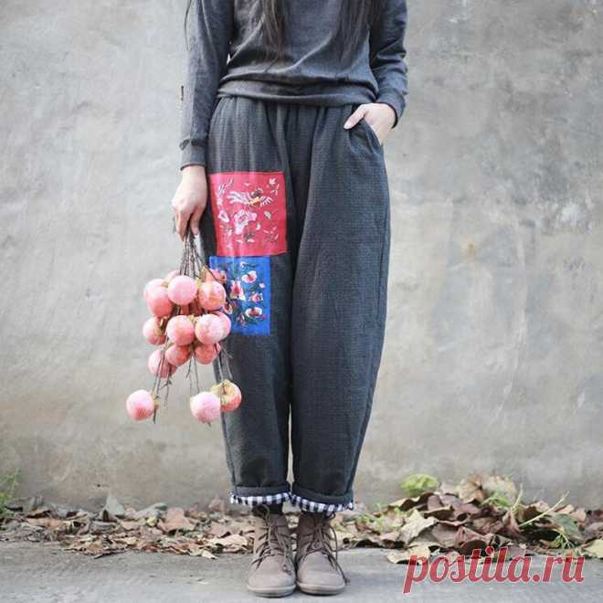 Womens Winter pants long pants Cotton linen Elastic Waist | Etsy