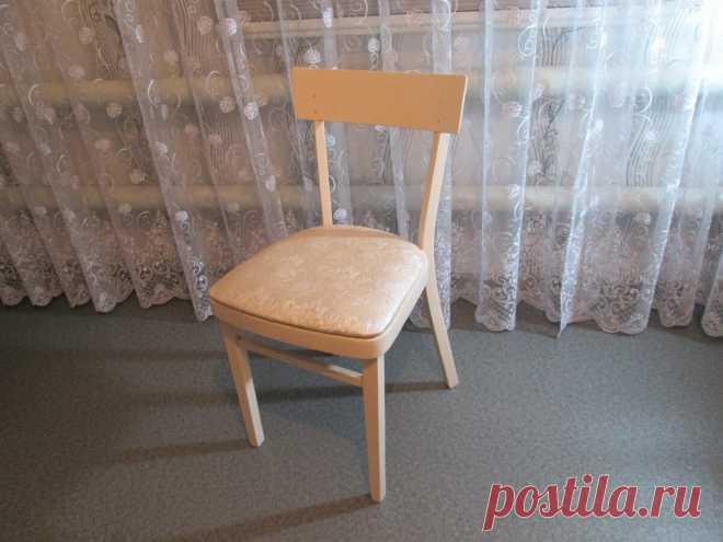 Чудесное перевоплощение старого стула. Все просто и без заморочек | Мастер Сергеич | Яндекс Дзен