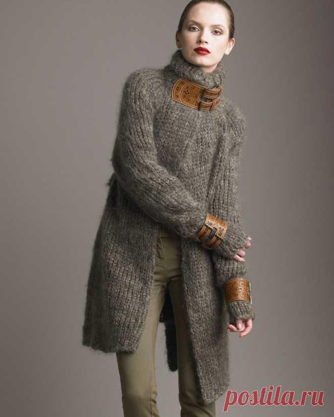 Вязание и кожа (подборка + Diy) Модная одежда и дизайн интерьера своими руками