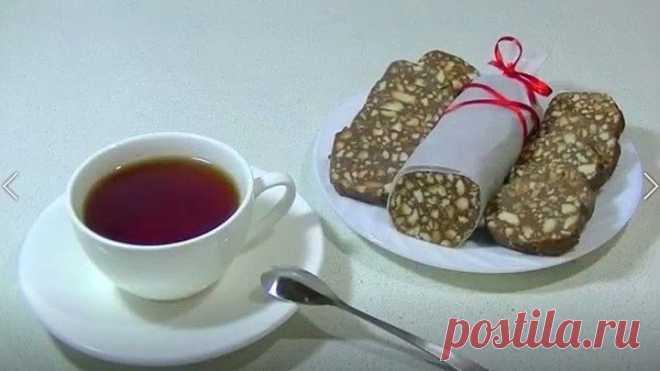 Шоколадная КОЛБАСА из 3 продуктов (без масла)