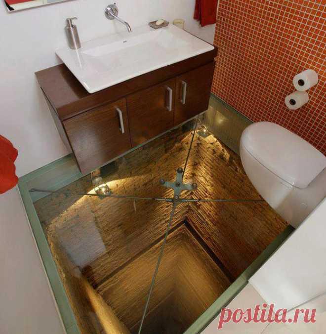 Санузлы с иллюзией провалов в полу: идеи — DIYIdeas