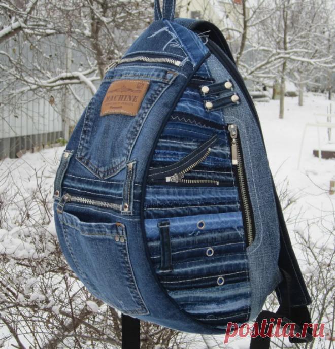 Сумки и рюкзаки из джинсов (трафик) / Переделка джинсов