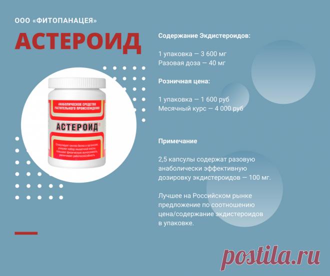 Таблица препаратов с экдистероидами
