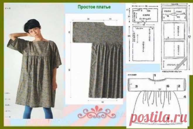 Выкройка простого платья в стиле