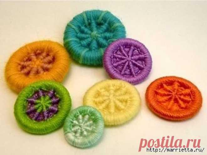 Делаем пуговицы для вязаной одежды