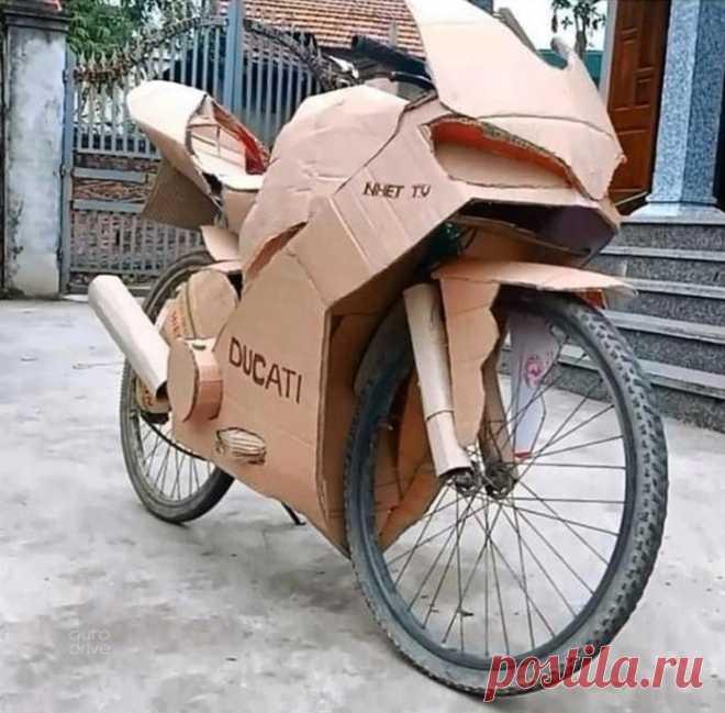 Как превратить велик в мотоцикл?
