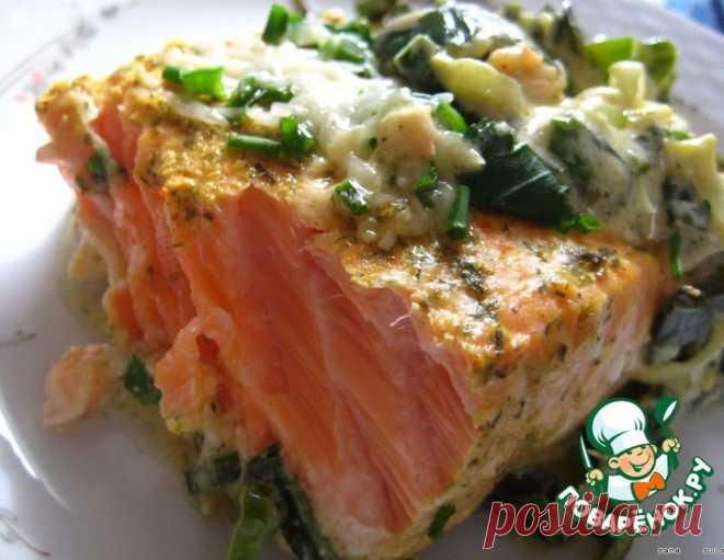 Маринованная семга, запеченная с соусом – кулинарный рецепт