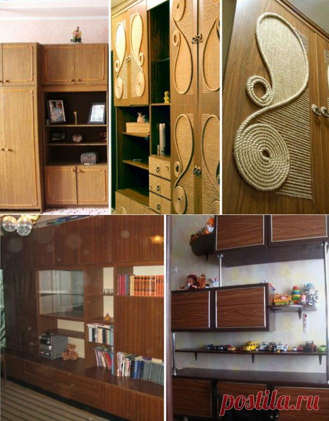 как обновить старую мебельную стенку с фото применения