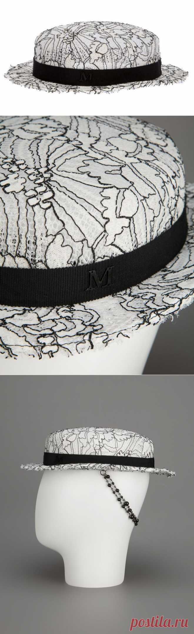 Вышитая шляпка Maison Michel / Головные уборы / Модный сайт о стильной переделке одежды и интерьера