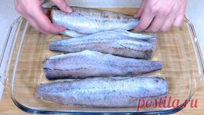 Смазываю минтай горчицей и запекаю в духовке. Простой рецепт вкусной и сочной рыбы   Розовый баклажан   Яндекс Дзен