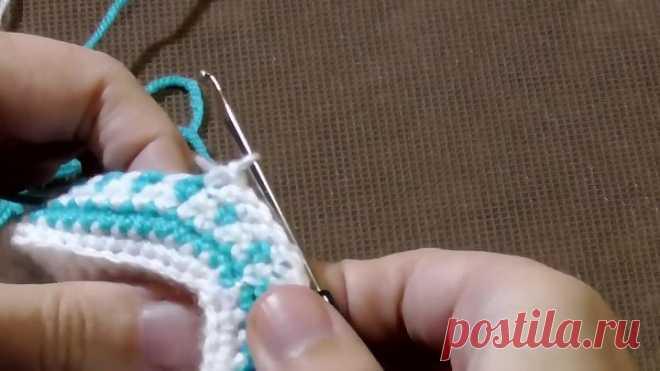 Пинетки крючком для новорожденных - How to Crochet Baby Booties