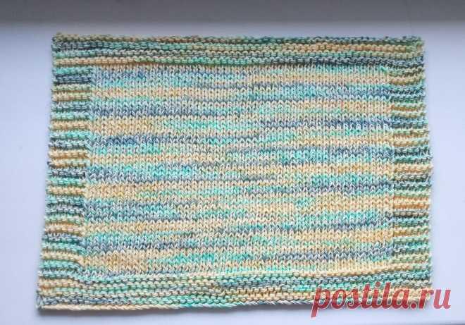 Идеальный наборный край для платочного вязания   Вязание длиною в жизнь   Яндекс Дзен