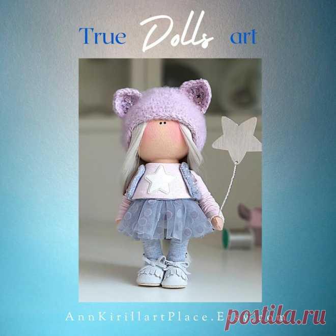 Christmas Gift Doll Handmade Winter Present Idea Doll | Etsy