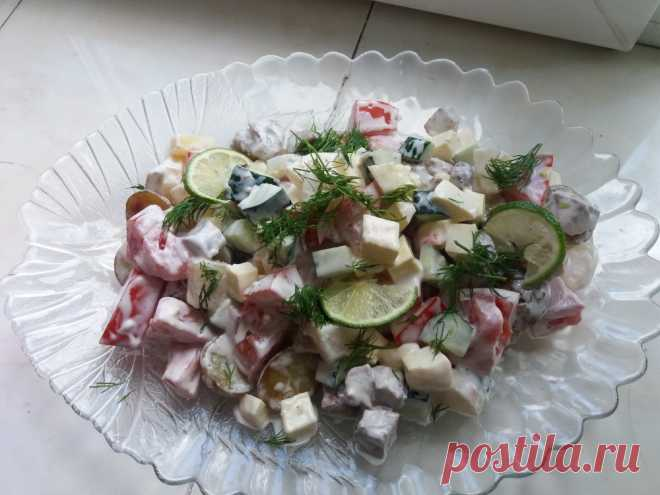 Мясной салат с майонезом: рецепт приготовления с фото Мясной салат из говядины, картофеля и майонеза - красивая и сытная закуска к праздничному застолью. Рецепт теплого салата из мяса.
