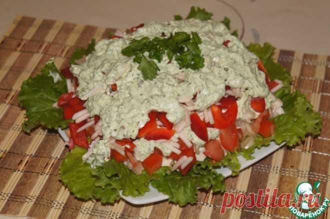 Салат с брынзой Кулинарный рецепт