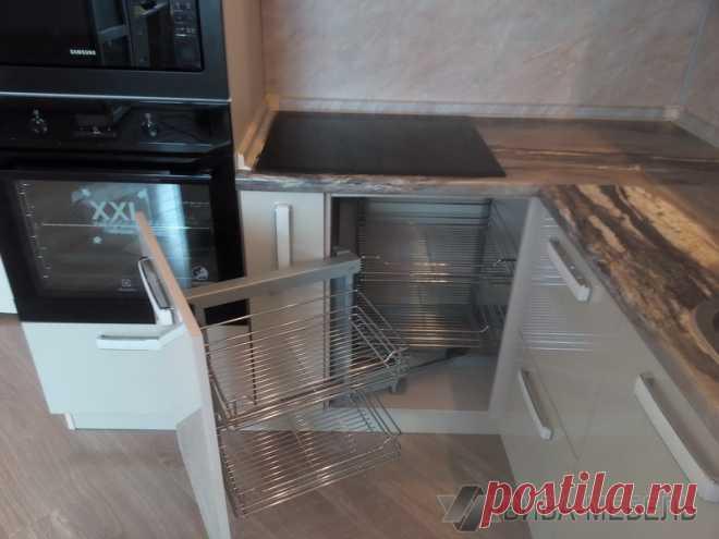 Фотообзор: Стильная малогабаритная угловая кухня в квартире-студии (11 фото) - 11 фото - Mebeljurnal.ru