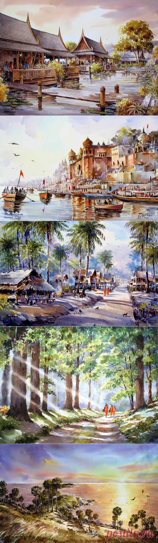Тайский художник Thanakorn Chaijinda.