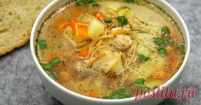 Как приготовить суп «Рыжик» с жареной вермишелью - Со Вкусом