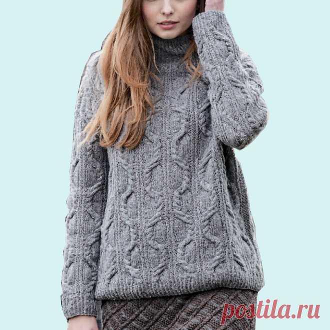 Брутальные женские свитера и пуловеры крупной вязки | Всё лучшее - маме | Яндекс Дзен