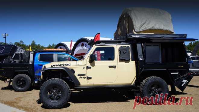 Фирма Dynatrac представила пикап Jeep Gladiator с мотором Hellcat Американская компания Dynatrac известна поведущим мостам для внедорожников, однако шоу-кар Dynatrac CODEX Jeep Gladiator, представленный навыставке