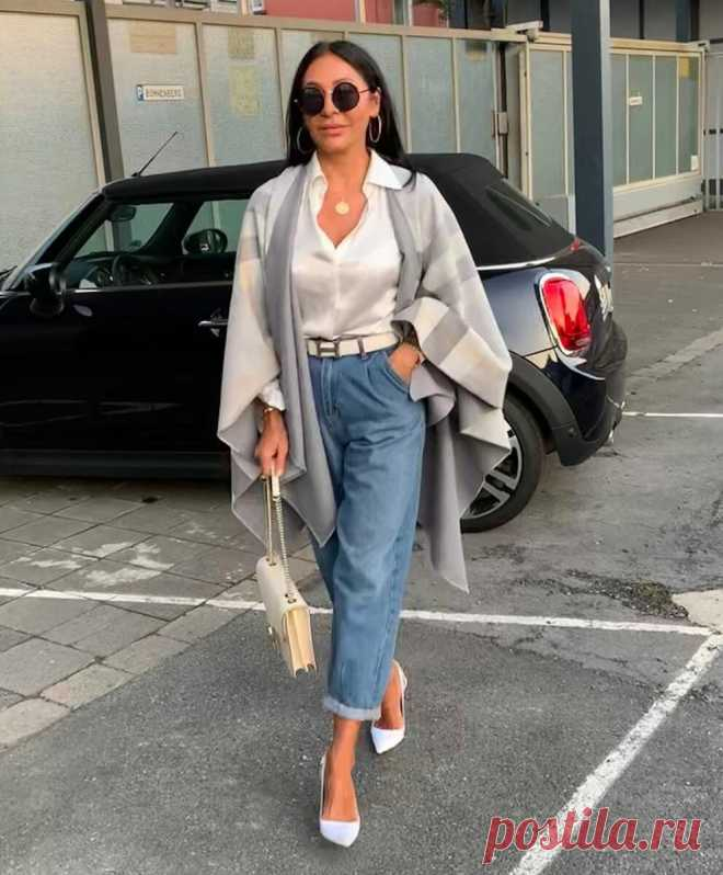 Как носить джинсы женщинам 50+, чтобы не выглядеть развязно и дешево   LADY DRIVE 🎯   Яндекс Дзен