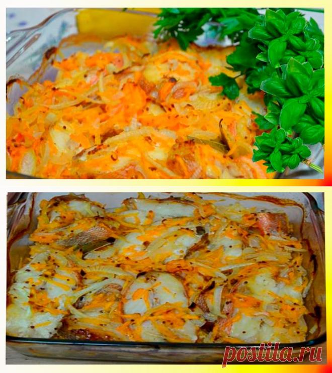 Морской окунь в духовке [в фольге]: рецепт с фото