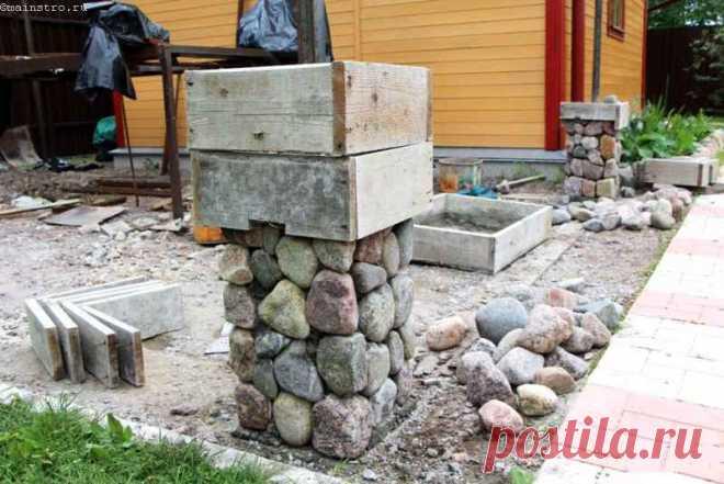 Беседка из камня — украшение любого дачного участка