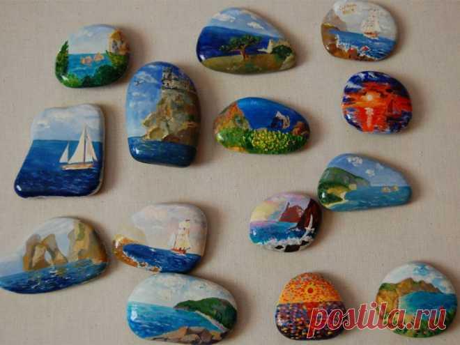 Поделки из камней: роспись, гравировка, каменные скульптуры