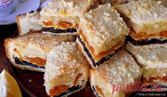 Восхитительный пирог с черносливом, курагой и лимон