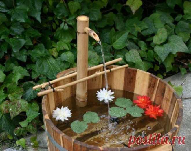 Оригинальные фонтаны из дерева своими руками При желании украсить участок можно фонтаном. Сделать нечто подобное, не так сложно, как кажется на первый взгляд. Более того, для создания фонтана можно использовать самые нестандартные материалы, в том числе дерево...