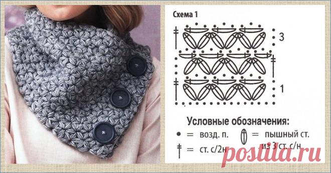 Шьем и вяжем простой теплый и легкий шарф-снуд на застежке | МНЕ ИНТЕРЕСНО | Яндекс Дзен