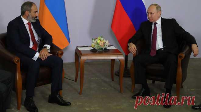 Путин назвал обвинения в предательстве в адрес Пашиняна безосновательными - Газета.Ru   Новости