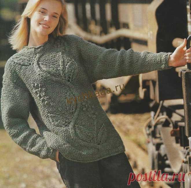 Вяжем спицами женский свитер | Вязание - схемы, фото и описания