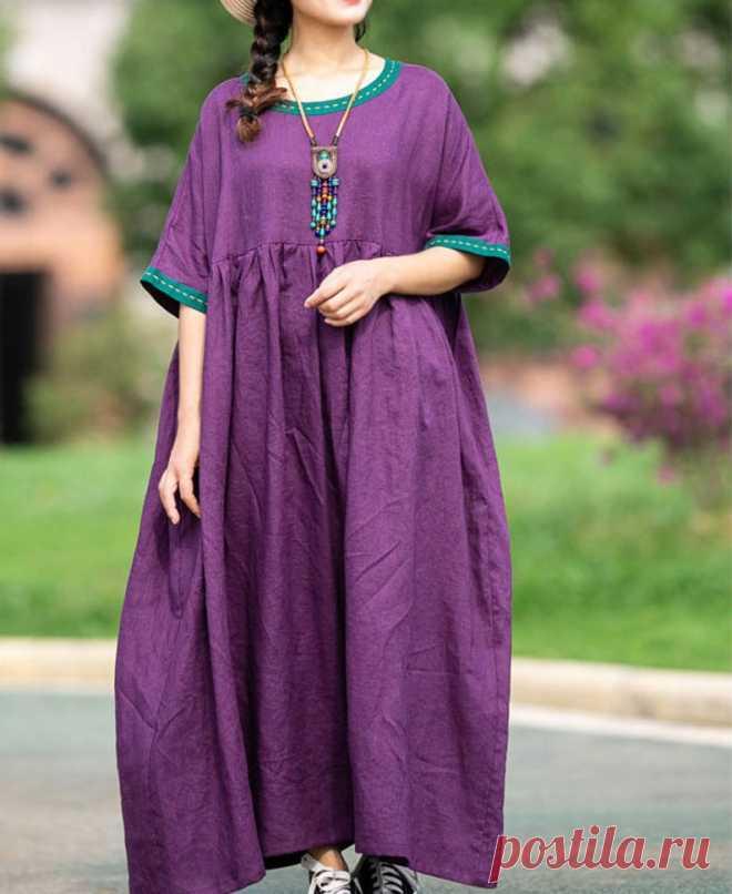 Linen plus size clothing maxi dress womens Summer dresses | Etsy