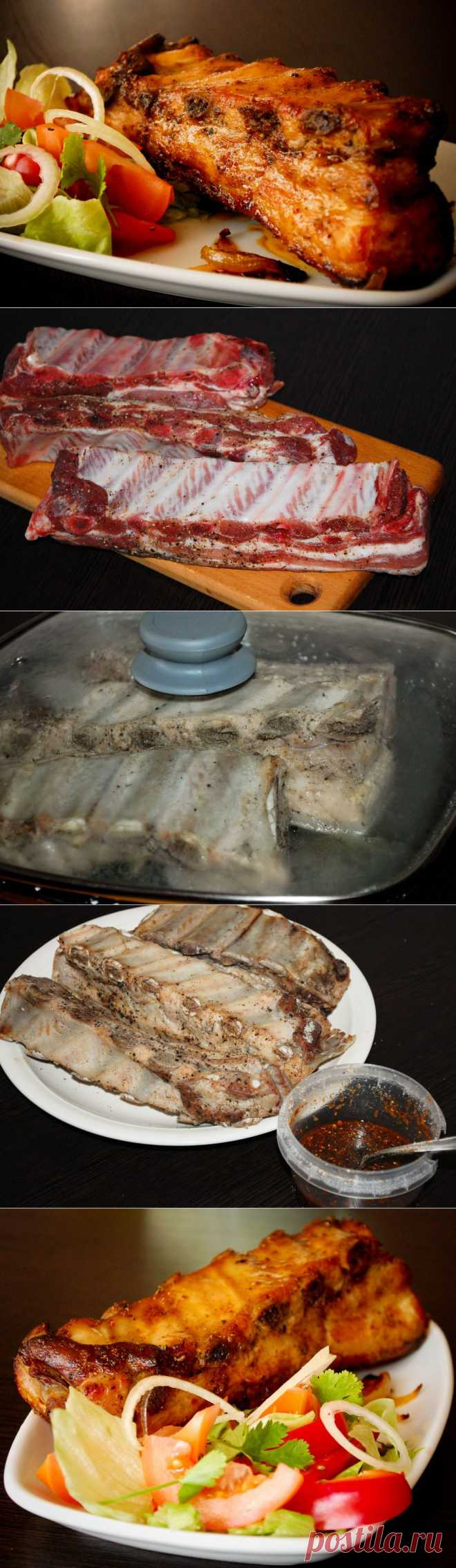 PORK RIBS FROM THE OVEN.